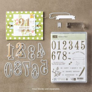 Stampin' Up! Number of Years stamp set 2nd birthday card www.creatingwithkristina.com