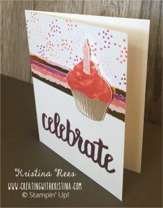 Sweet Cupcake Stampin Up Stamp For more information visit my blog at www.creatingwithkristina.com