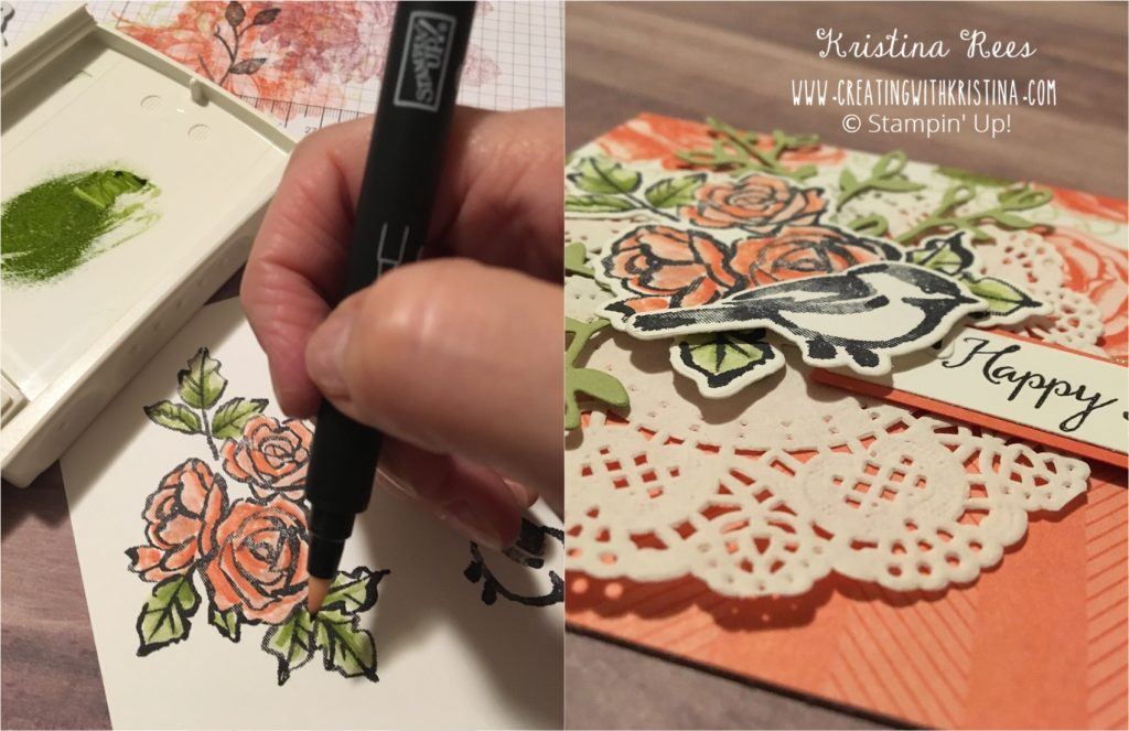 Petal Pallete Stamp Set Rose Floral Birthday Card 2