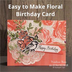Petal Pallete Stamp Set Rose Floral Birthday Card