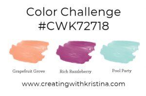 Color Challenge #CWK72718