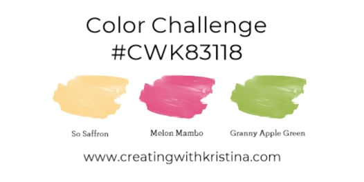 Color Challenge #CWK83118 Gatefold that stays closed www.creatingwithkristina.com