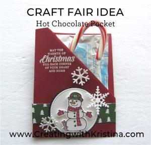 Craft Fair Idea Hot Chocolate Pocket www.creatingwithkristina.com