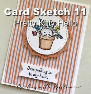 Card Sketch 11 Pretty Kitty Hello Title