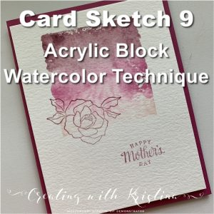 Acrylic Block Watercolor Technique