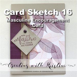 Card Sketch 16 Masculine Encouragement Card