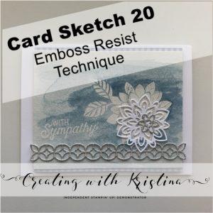 Card Sketch 20 Emboss Resist title