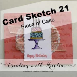 Card Sketch 21 Piece of Cake title