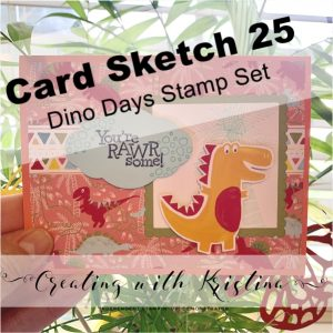 Card Sketch 25 Dino Days