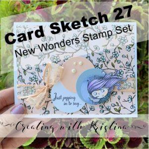 Card Sketch 27 New Wonders Stamp Set