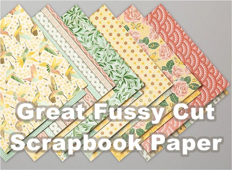 Great Fussy Cut Scrapbook Paper