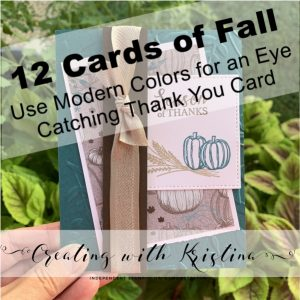 Use Modern Colors for an Eye Catching Thank You Card