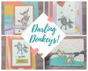 4 Darling Donkeys Card Tutorials